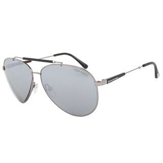 Tom Ford Rick FT0378 Men's Light Ruthenium Grey Mirror Silver sunglasses
