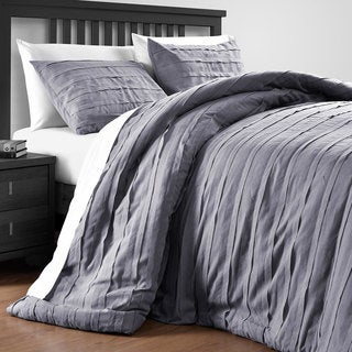 Comfy Bedding Loft Stripe Embellished 3 Piece Comforter Set
