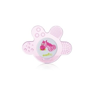 Evenflo Zoo Friends Pink Silicone Chewy Soother Paw
