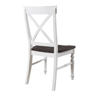 Emerald Home Mountain Retreat X-Back Dining Chair W/Wood Seat-2pk