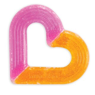 Munchkin Pink and Orange Silicone Ice Heart Teether