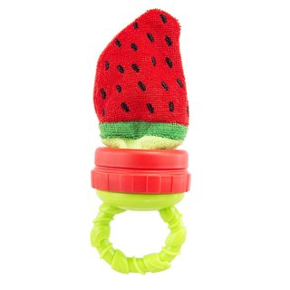 Sassy Strawberry Terry Teether with Handle