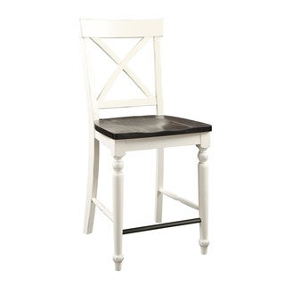 Emerald Home Mountain Retreat X-Back Barstool W/Wood Seat-2pk