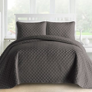 Comfy Bedding Gifted Lantern Quilted 3-piece Bedspread Coverlet Set