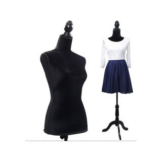 Black Foam Brushed Fabric Half-Length Lady Clothing Display