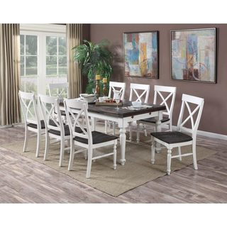 Emerald Home Mountain Retreat Extension Dinette Table - Antique White