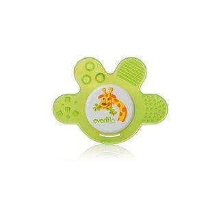 Evenflo Zoo Friends Green Silicone Chewy Soother Paw