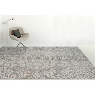 Hand-tufted Jasmine Blue Wool Area Rug (5' x 8')