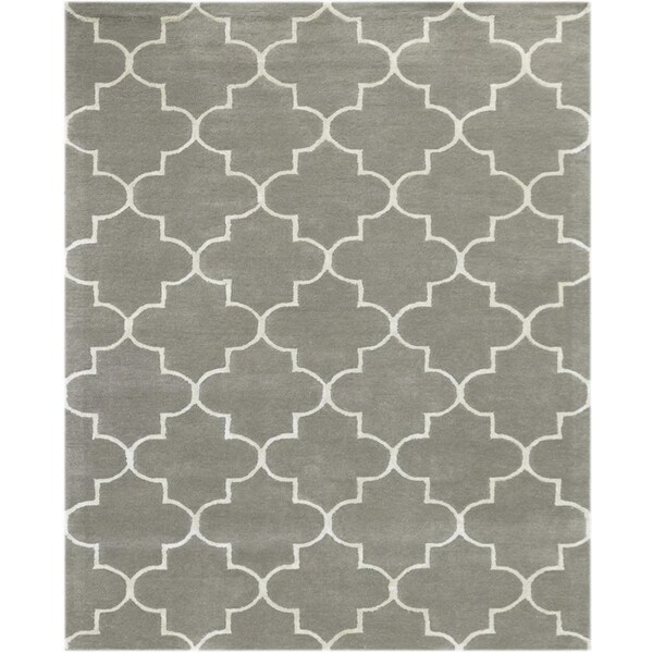 Shop Horizon Collection Platinum Hand Tufted Wool Area Rug 8 X 11
