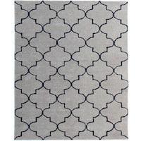 Horizon Silversand Wool Hand-tufted Area Rug (8' x 11') - 8' x 11'