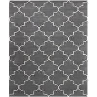 Horizon Grey Wool Hand-tufted Area Rug (7'6 x 9'6) - 7'6 x 9'6