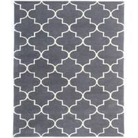 Hand-tufted Horizon Charcoal Wool Area Rug - 8' x 11'