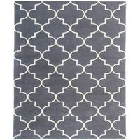 Horizon Collection Charcoal Wool Hand-tufted Area Rug (7'6 x 9'6) - 7'6 x 9'6