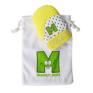 Munch Mitt Baby Mini Yellow Teething Mitten