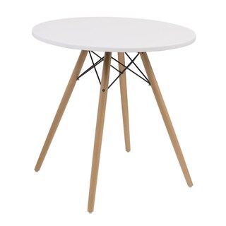 "Emerald Home Annette Two Tone with Wood Legs 27.5"" Round Dinette Table - 27.5 in. (2 options available)"