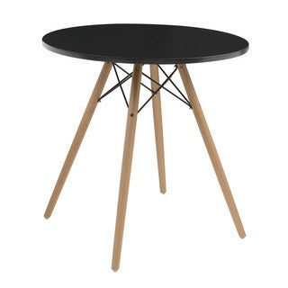 """Emerald Home Annette Two Tone with Wood Legs 27.5"""" Round Dinette Table - 27.5 in."""