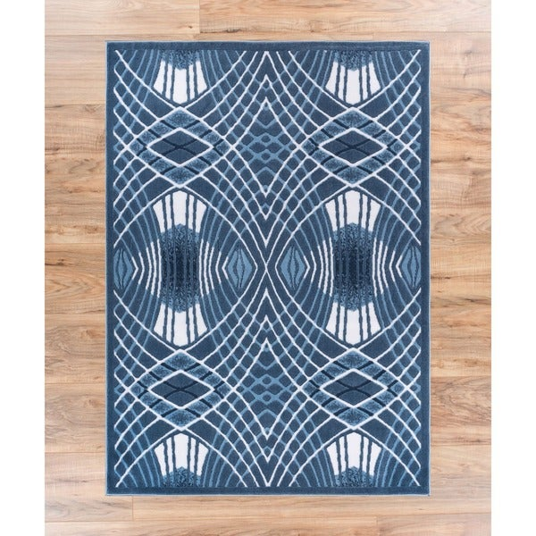 Well Woven Zamboni Lines and Waves Modern Area Rug (2'7'' x 3'11'' ) - 2'7 x 3'11
