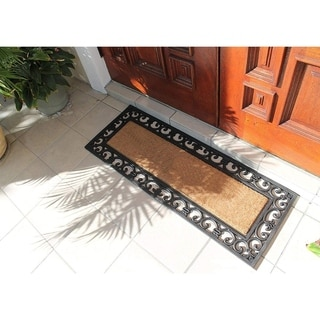 A1HC First Impression Myla 17.71 x 47.25-inch Rubber and Coir Double Doormat