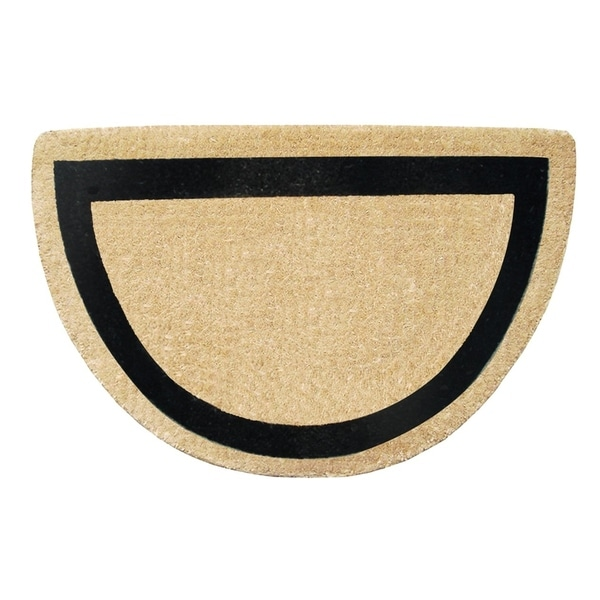 A1HC First Impression Engineered Anti-shred treated Bleach Coir Fade-resistant Half-round 24 x 36-inch Doormat