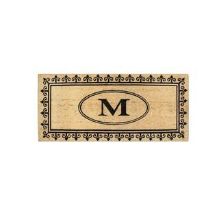 A1HC First Impression Quinton 'M' MonogramAnti Shread-treated 24 x 57-inch Coir Doormat