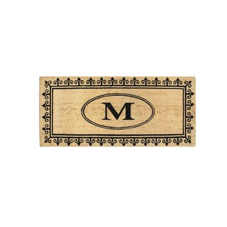 A1HC First Impression Quinton 'M' MonogramAnti Shread-treated 24 x 57-inch Coir Doormat