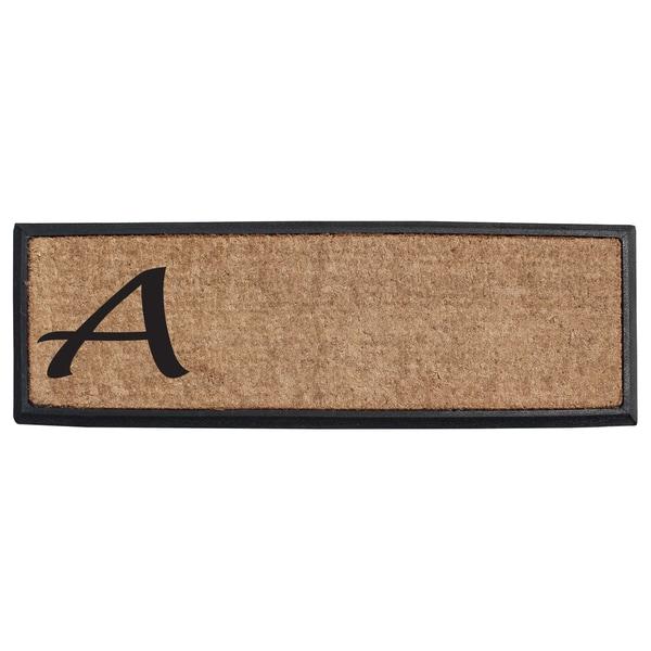 First Impression Rubber/Coir Molded Lucida Monogrammed Doormat