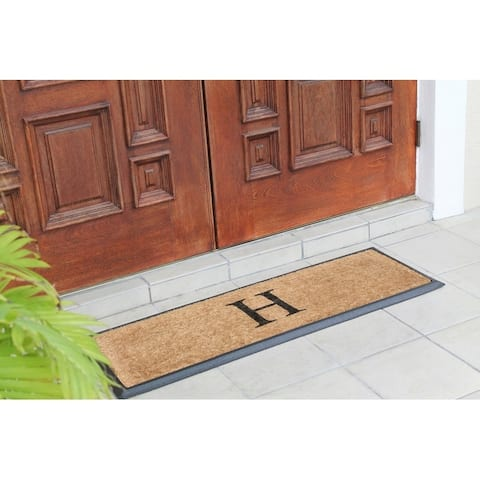 A1HC First Impression Rubber/Coir Molded 16-inch x 48-inch Monogrammed Double Doormat