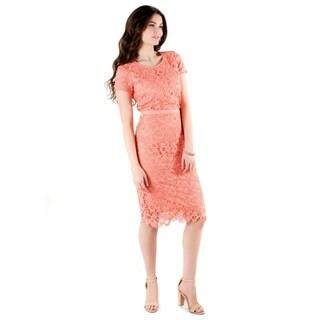 DownEast Basics Women's Lace Fancy Dress