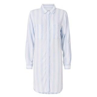 Rails Light Blue Striped Shirt Dress