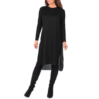 Rags and Couture Women's Hacci Knee-length Tunic
