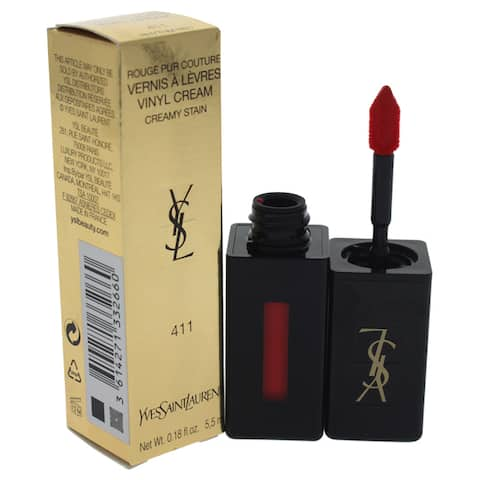 Yves Saint Laurent Vernis a Levres Vinyl Cream Lip Stain 411 Rhythm Red