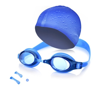 Kids Swim Kit  - Swim Goggles and Swim Cap For Swimming / Diving / Snorkeling / Surfing