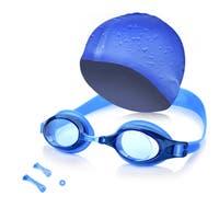 Kids Swim Kit  - Swim Goggles and Swim Cap For Swimming / Diving / Snorkeling / Surfing