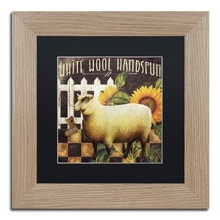 Color Bakery 'Sheep ' Matted Framed Art