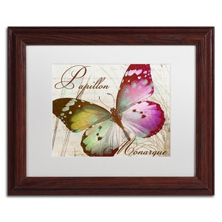 Color Bakery 'Papillon II' Matted Framed Art