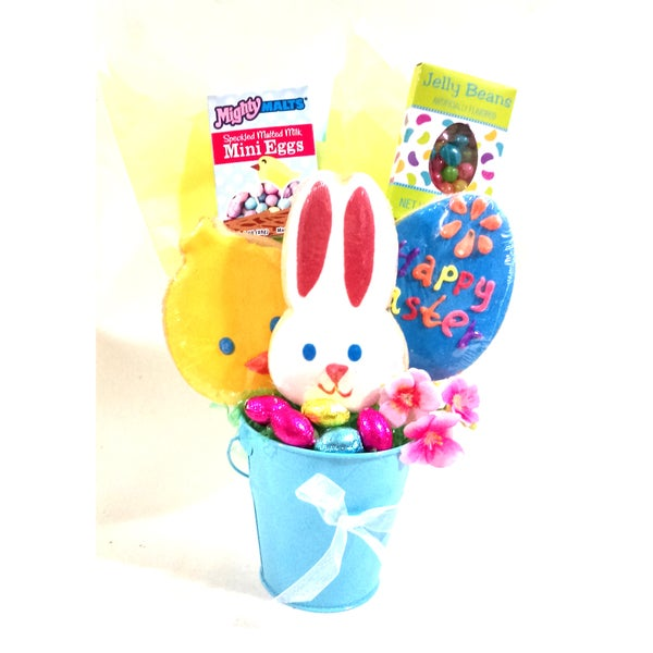 'Hoppy Easter' Decorated Cookie Bouquet