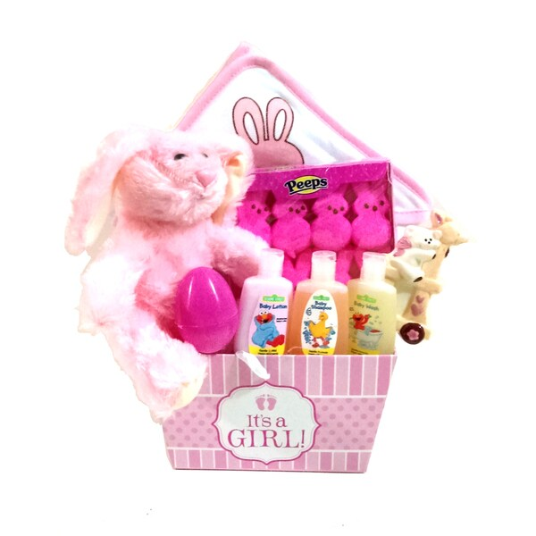 Its a Girl! Pink Easter Basket