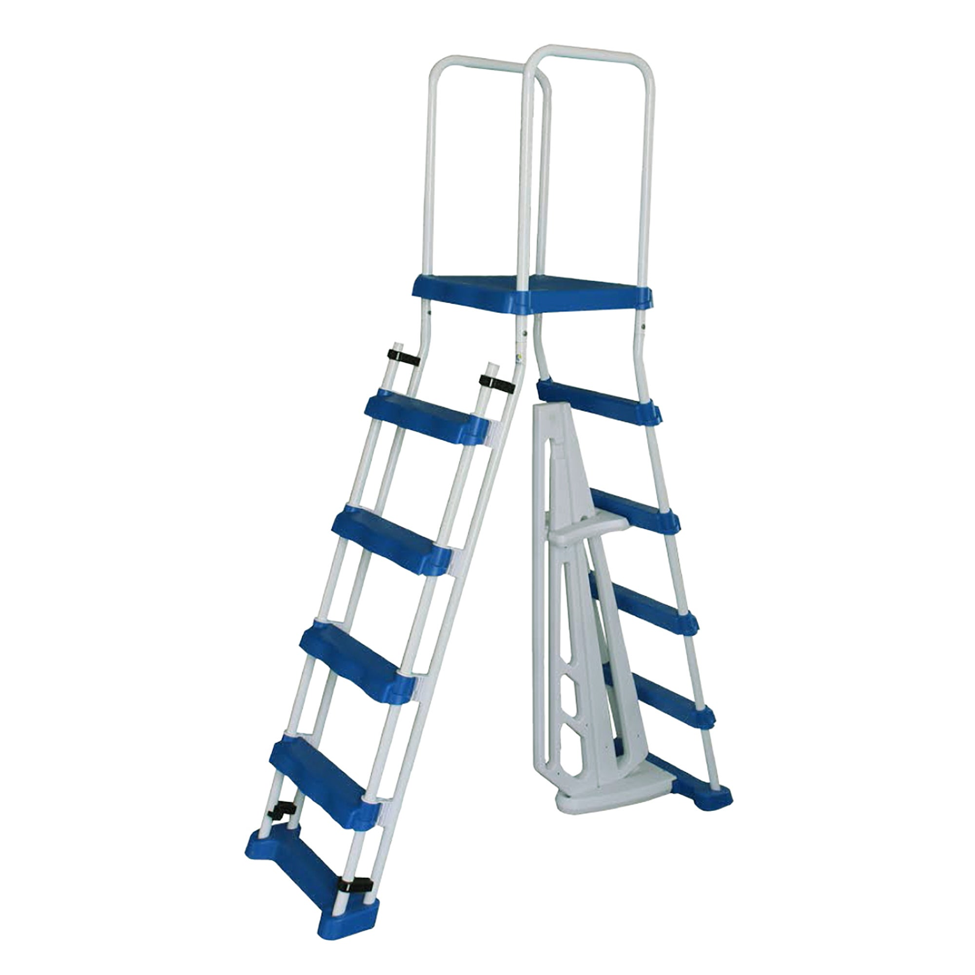 Blue Wave 52-in A-Frame Ladder w/ Safety Barrier and Remo...