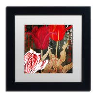 Color Bakery 'China Red II' Matted Framed Art - Black