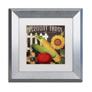 Color Bakery 'Vermont Farms VII' Matted Framed Art