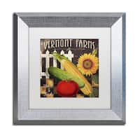 Color Bakery 'Vermont Farms VII' Matted Framed Art - Yellow