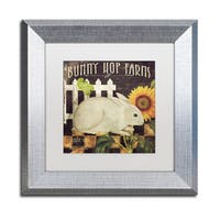 Color Bakery 'Vermont Farms III' Matted Framed Art - Grey