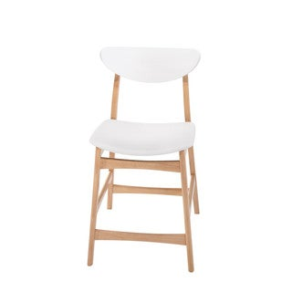 Emerald Home Simplicity Wood Back W/ White Pu Uph Seat Barstool (Set Of 2)