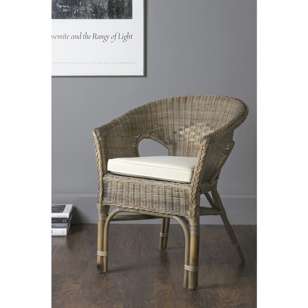 Amazing Shop East At Mains Collins Brown Rattan Square Accent Chair Pabps2019 Chair Design Images Pabps2019Com