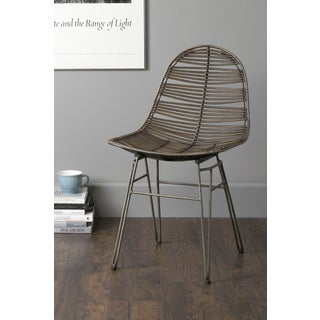 East At Main's Stark Brown Rattan Square Dining Chair