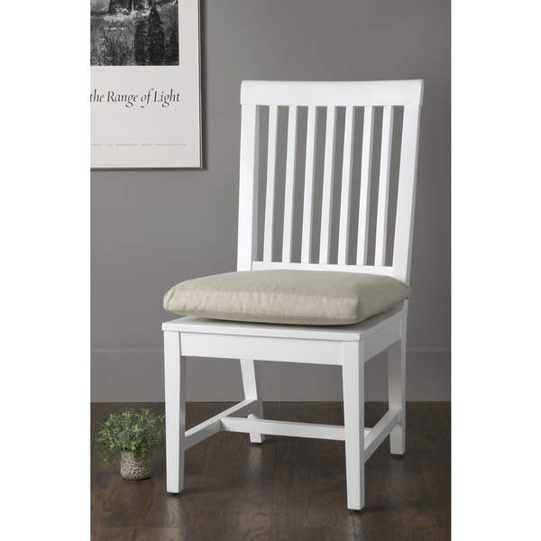 East At Mainx27s Exeter White Mango Wood Square Dining Chair