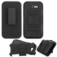 Insten Hard PC/ Silicone Dual Layer Hybrid Case Cover with Holster For Samsung Galaxy J3 (2017)