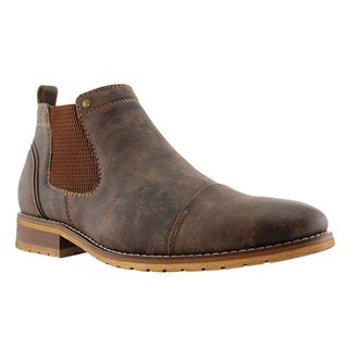 Ferro Aldo AF36 Men's Chelsea Synthetic Leather Pull-tab Slip-on Outdoor Boots