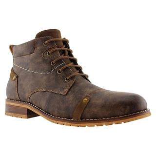 Ferro Aldo Men's Faux Leather Desert Lace Up High Top Casual Oxford Shoes
