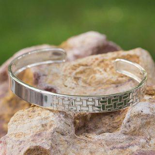Handmade Sterling Silver 'Weaver' Bracelet (Mexico)